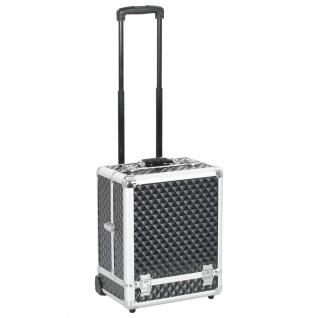 vidaXL Kosmetikkoffer 35×29×45 cm Schwarz Aluminium