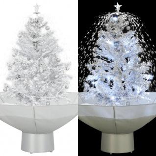 vidaXL Schneiender Weihnachtsbaum mit Schirmfuß Weiß 75 cm