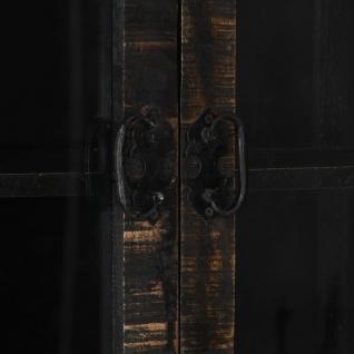 vidaXL Highboard Schwarz 90×40×180 cm Massivholz Mango - Vorschau 2