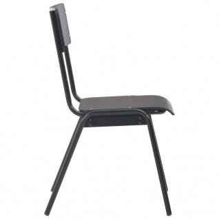 vidaXL Esszimmerstühle 4 Stk. Schwarz Massives Sperrholz Stahl - Vorschau 4