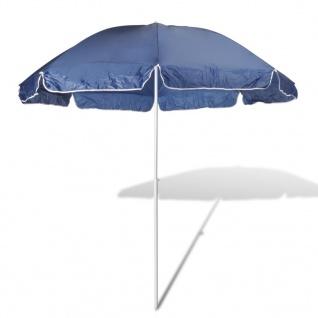 240cm Sonnenschirm Strandschirm Schirm Blau