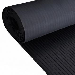 Gummi-Bodenmatte Antirutschmatte 5 x 1 m breit gerippt
