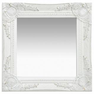 vidaXL Wandspiegel im Barock-Stil 40x40 cm Weiß