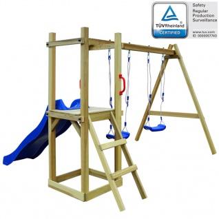 vidaXL Spielturm mit Rutsche Leiter Schaukeln 242 x 237 x 175 cm Kiefernholz