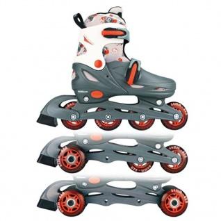 Nijdam Junior Inline Skates 27-30 grau/rot/weiß 52QM - Vorschau 1