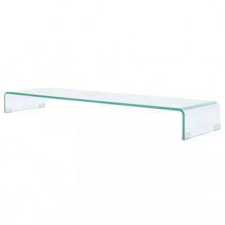 vidaXL TV-Tisch/Bildschirmerhöhung Glas Transparent 120x30x13 cm