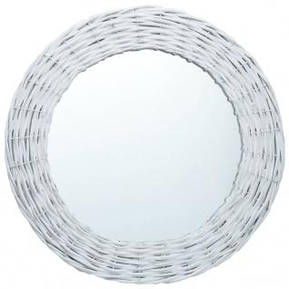 vidaXL Spiegel Weiß 60 cm Weide