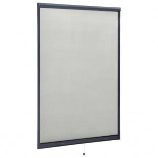 vidaXL Insektenschutzrollo für Fenster Anthrazit 110x170 cm