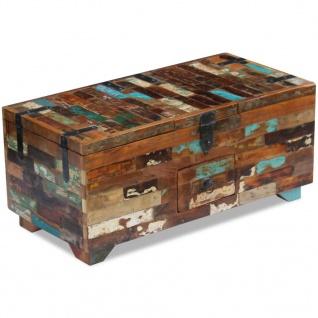 vidaXL Couchtisch Truhe recyceltes Massivholz 80x40x35 cm - Vorschau 5