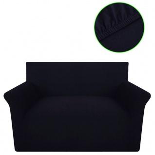 Sofahusse Sofabezug Stretchhusse Schwarz Baumwoll-Jersey