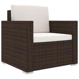 vidaXL 13-tlg. Garten-Lounge-Set mit Auflagen Poly Rattan Braun - Vorschau 4