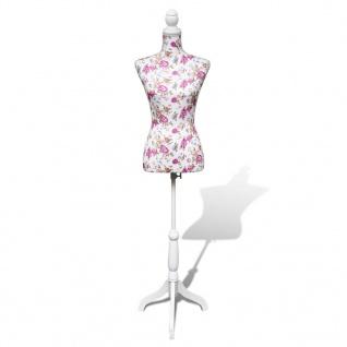 Damenbüste Schneiderpuppe Büste Torso Mannequin Baumwolle weiß Rose
