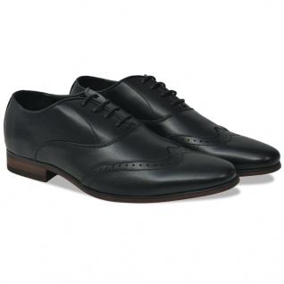 vidaXL Business-Schuhe Herren Brogue-Schuhe Schwarz Größe 41 PU-Leder