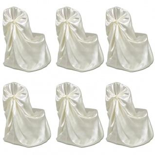 6 x Stuhlhusse für Hochzeit Bankett cremefarben