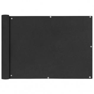 vidaXL Balkonsichtschutz Oxfordgewebe 75x600 cm Anthrazit