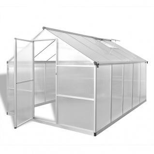 vidaXL Verstärktes Gewächshaus Aluminium 7, 55 m²