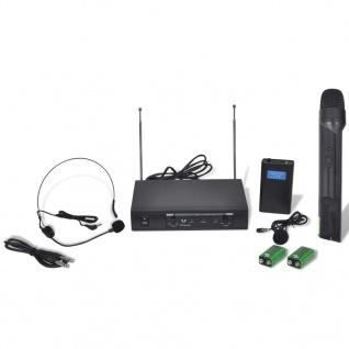 Receiver mit 1 drahtlosen Mikrophon und 1 drahtlosen Headset VHF