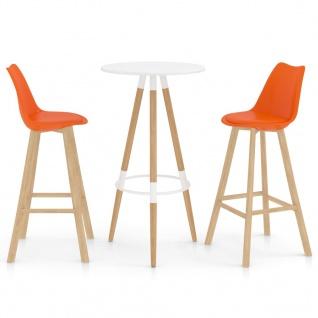 vidaXL 3-tlg. Bar-Set Orange