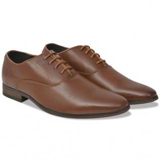 vidaXL Business-Schuhe Herren Schnürschuhe Braun Größe 43 PU-Leder