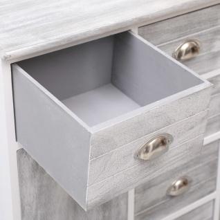 vidaXL Sideboard mit 10 Schubladen Grau 113×30×79 cm Holz - Vorschau 2