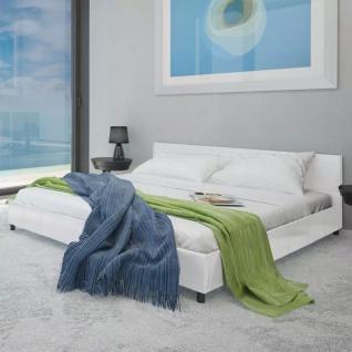 vidaXL Bett 180×200 cm Kunstleder Weiß