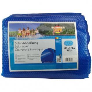 Summer Fun Sommer Poolabdeckung Solar Oval 525x320 cm PE Blau