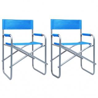 vidaXL Regiestühle 2 Stk. Stahl Blau
