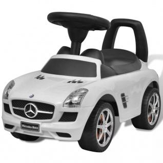 vidaXL Mercedes Benz Kinderauto Fußantrieb Weiß