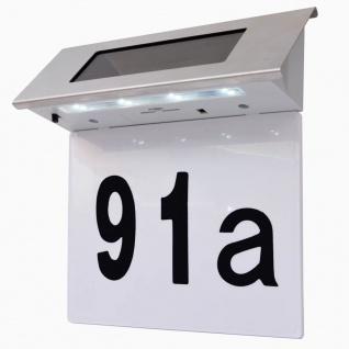 vidaXL Solar LED Hausnummernleuchte Edelstahl