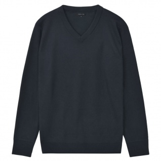 vidaXL Herren Pullover Sweater V-Ausschnitt Marineblau XXL