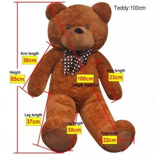 XXL Weicher Plüsch-Teddybär Braun 100 cm - Vorschau 5