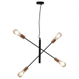 vidaXL Deckenleuchte mit Glühlampen 2 W Schwarz und Kupfer E27