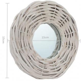 vidaXL Spiegel 3 Stk. Weiß 15 cm Weide - Vorschau 5