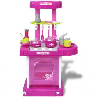 Kinderküche Spielküche mit Licht- und Soundeffekten Rosa - Vorschau 2
