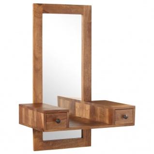 vidaXL Kosmetikspiegel mit 2 Schubladen Massivholz