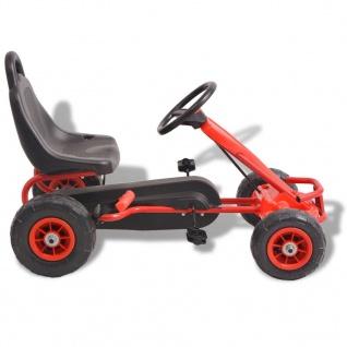 vidaXL Pedal Go-Kart mit Luftreifen Rot - Vorschau 2
