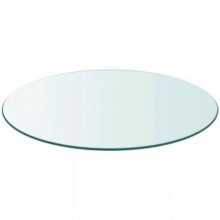 vidaXL Tischplatte aus gehärtetem Glas rund 500 mm