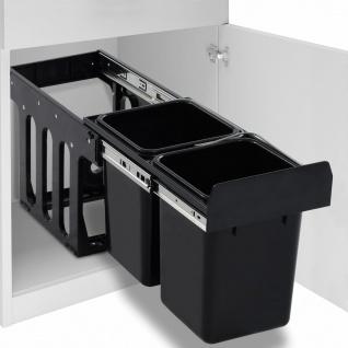 vidaXL Abfallbehälter für Küchenschrank Ausziehbar Soft-Close 20 L