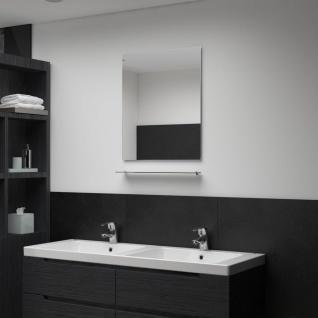 vidaXL Wandspiegel mit Regal 50×60 cm Hartglas