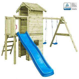 vidaXL Spielturm mit Leiter Rutsche Schaukeln 390x353x268 cm Holz