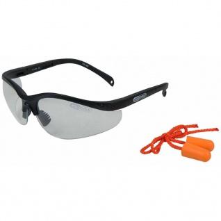 KS Tools Schutzbrille mit Ohrstöpsel Transparent 310.0176