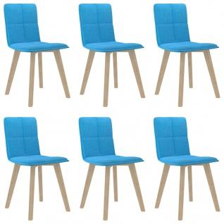 vidaXL Esszimmerstühle 6 Stk. Blau