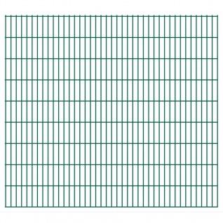 vidaXL 2D Gartenzaun-Elemente 2, 008x1, 83 m Gesamtlänge 42 m Grün