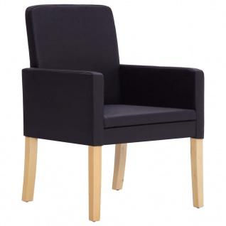 vidaXL Esszimmerstühle 4 Stk. Dunkelbraun Kunstleder - Vorschau 3