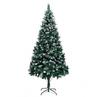 vidaXL Künstlicher Weihnachtsbaum mit Zapfen und Schnee 210 cm