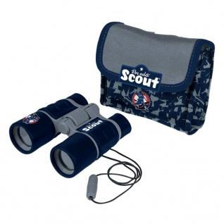 Scout Kinderfernglas mit Neopren-Gürteltasche Blau