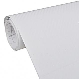 3D Kohlefasser Vinyl Auto Folie Matt Weiß 152x500cm