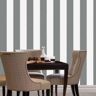 Dutch Wallcoverings Tapete Streifen-design Grau Und Weiß 7358-0 - Vorschau 2