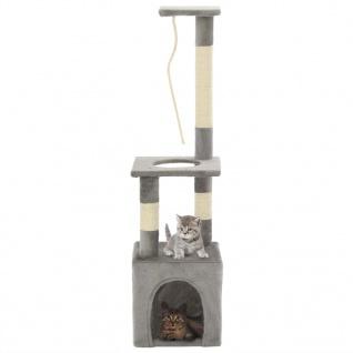 vidaXL Katzen-Kratzbaum mit Sisal-Kratzsäulen 109 cm Grau - Vorschau 1