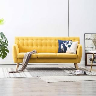 vidaXL 3-Sitzer-Sofa Stoffbezug 172x70x82 cm Gelb